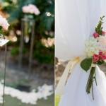 Свадебный декор из светлых роз