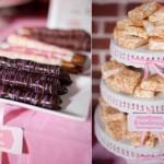 Свадебные сладости в розовом цвете