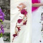 Свадебный букет из орхидей на длинной проволоке