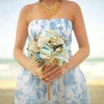 Свадебный букет невесты из лоскутков