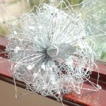 Серебристый свадебный букет