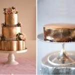 Свадебный торт цвета меди