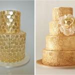 Торт усеянный золотыми монетками