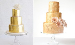 metallic-wedding-cake