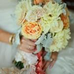 Ножка свадебного букета в стиле винтаж