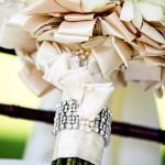 Ножка свадебного букета с шелковой лентой