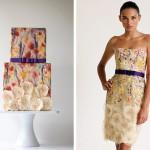 Платье невесты и торт в ярких красках