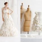 Платье невесты и торт с пышными украшениями