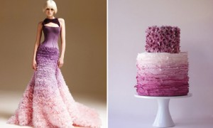 ombre-wedding-cake-and-dress