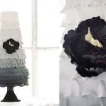 Свадебный торт с переходом цвета от черного к белому