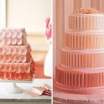 Свадебный торт в персиковых оттенках