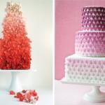 Свадебные торты с переходом цвета