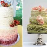 Свадебный торт со сменой оттенков цветов