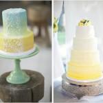 Свадебный торт с использованием желтого