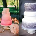 Свадебный торт с плавным слиянием цветов