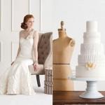 Белоснежные торт и свадебное платье