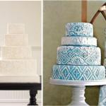 Торт и свадебное платье с кружевным узором