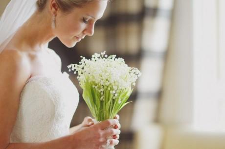 Свадебный букет со счастливыми цветами