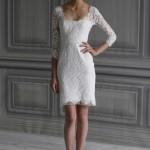 Короткое платье с гипюром