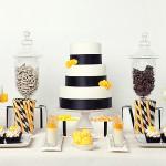 Оформление в белом, черном и желтом цветах