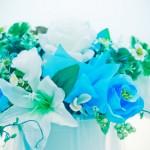 Нежный голубой букет