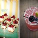 Малиновый чиз-кейк и коктейль с ежевикой