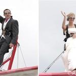 Жених и невеста в полете