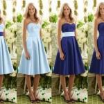 Синие и голубые платья
