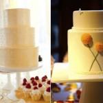 Желтые свадебные торты круглой формы