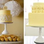 Свадебные торты в теплом желтом цвете