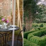 Лабиринт из зеленых насаждений на свадьбе