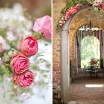 Парковая свадьба с оформлением из роз