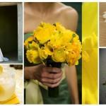 Свадебные букеты из желтых нарцисов