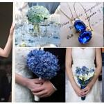 Синие цветы в свадебном декоре
