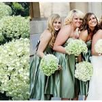 Свадебные букеты из зеленых гардений