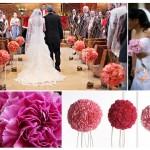 Гвоздики в свадебном оформлении