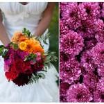 Свадебные букеты из хризантем