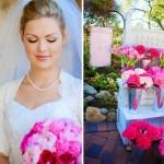 Романтические розовые букеты на свадьбу