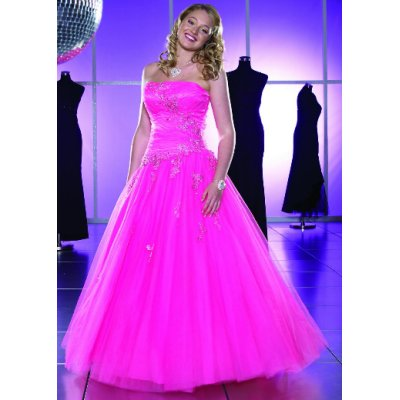 Изобр по > Ярко-Розовое Свадебное Платье