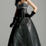 Платье с вышивкой и декором камушками