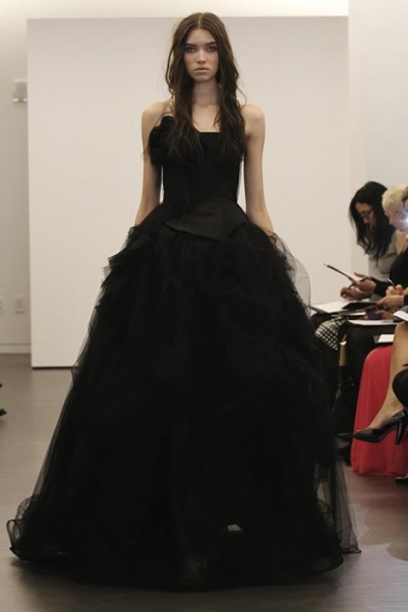 Черно-белое свадебное платье | Дом невест