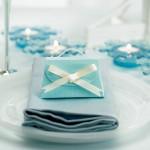 Голубой декор на свадьбе