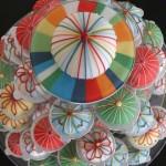 Свадебный торт всех цветов радуги