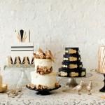 Металлические детали на свадебных тортах