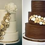 Свадебные торты украшенные золотыми монетами