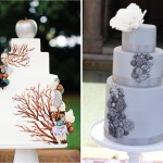 Свадебные торты украшенные металлическими цветами
