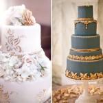 Золотой узор в оформлении свадебного торта