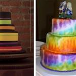 Свадебные торты в стиле хиппи