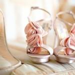 Свадебные туфли невесты  в розовых оттенках