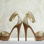 Свадебные туфли невесты  на высоком каблуке